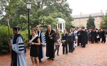 University Day Processional 2011.