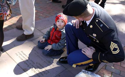 SFC Sean P. Murphy, and his son Colin Murphy, age 3.