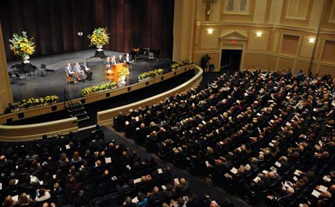 Memorial service for Bill Friday in Memorial Hall