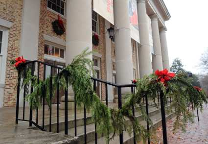 Holiday decorations at UNC