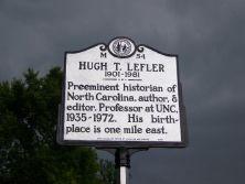 Hugh Lefler historical marker.