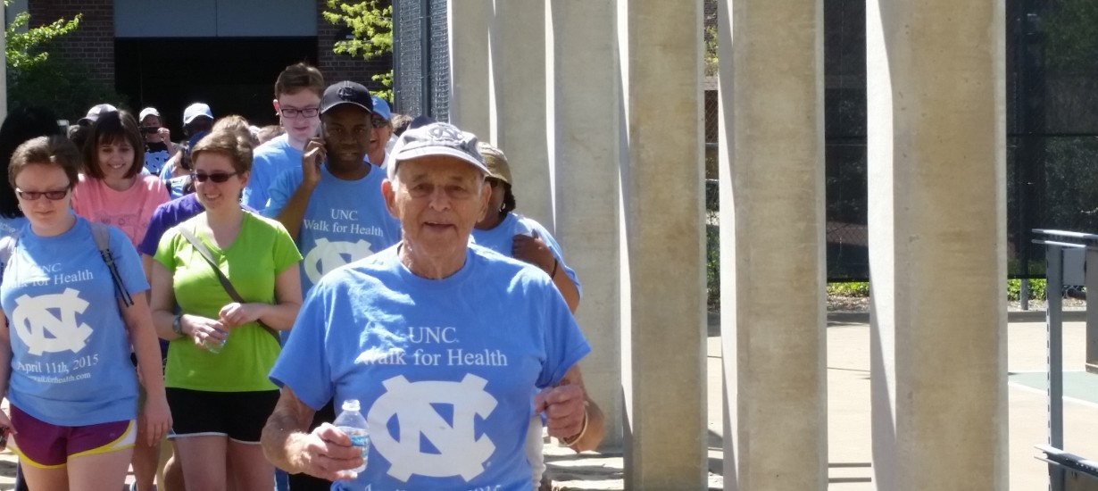Bob Gersten leading the start of the Walk for Health.
