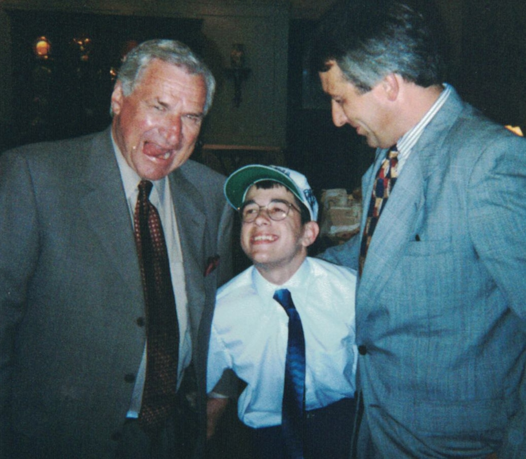 Coach Dean Smith, Matt Shelor and Barnie Day '75 in 1998. (Photo courtesy of Marie McCoy)