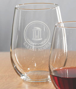 wine glasses life member stemless