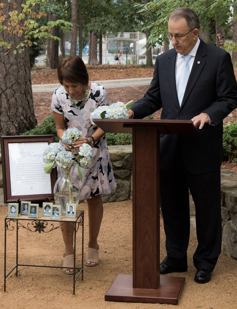 ceremony this year at the 9/11 Memorial Garden