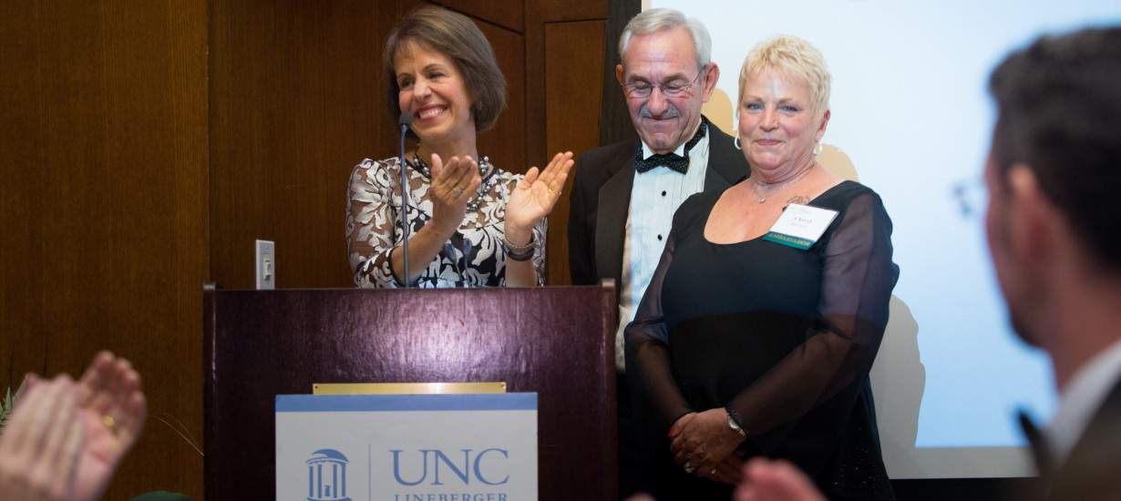Chancellor Carol Folt with Ken '70 (MSPH, '76 DRPH) and Cheryl Williams