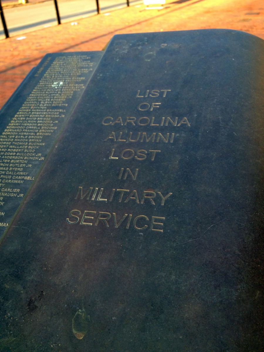 Carolina Alumni Memorial in Memory of Those Lost in Military Service
