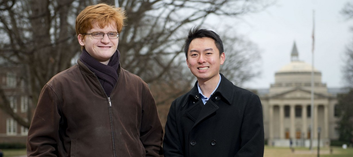Matthew Leming '15, left, and Larry Han