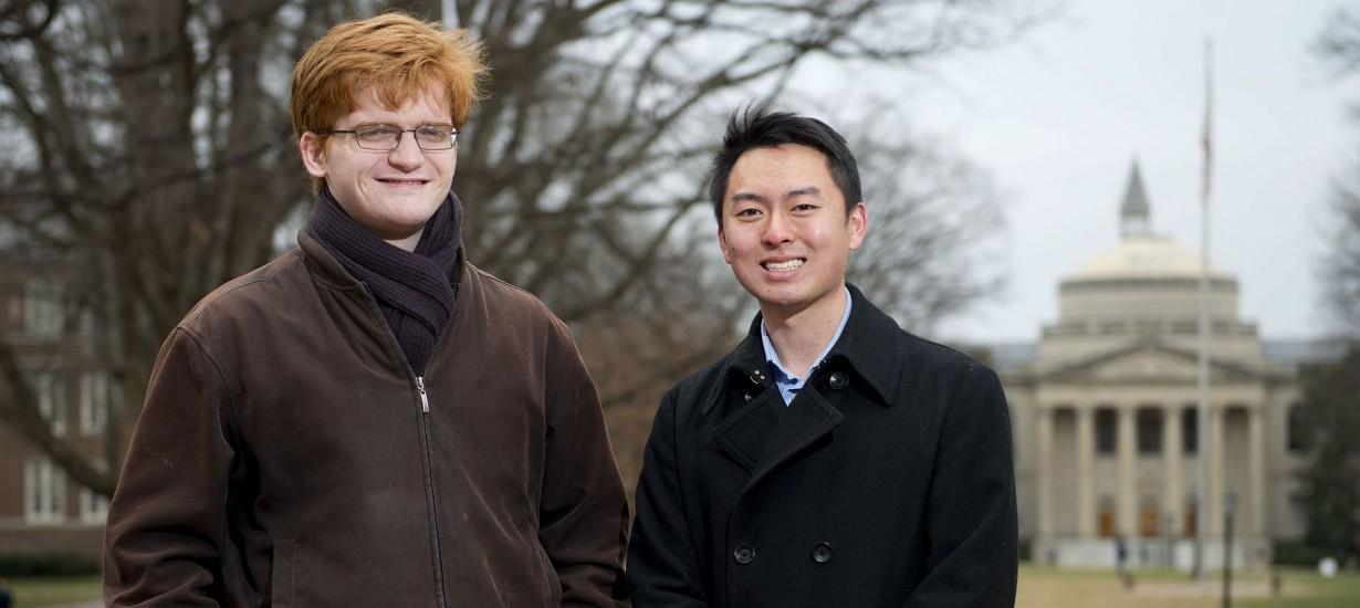 Matthew Leming '15, left, and Larry Han