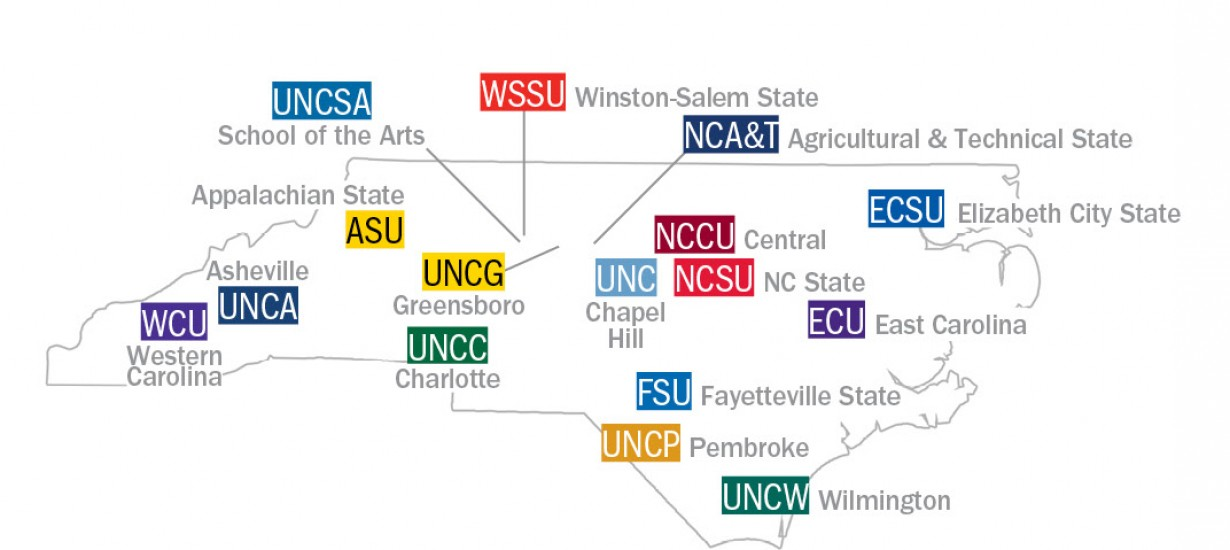 UNC System map
