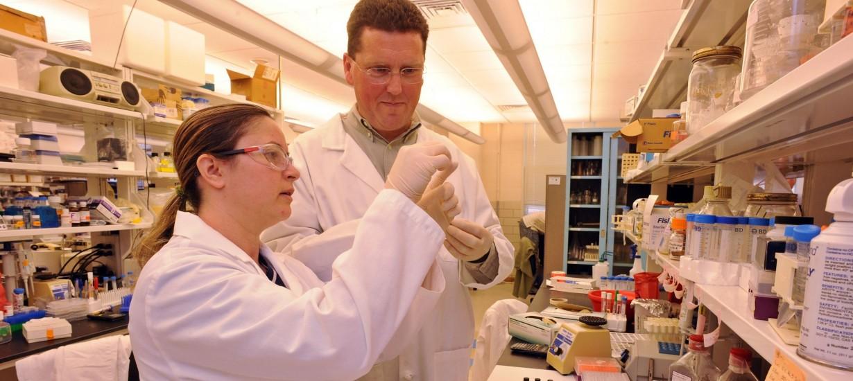 Associate Professor Scott Singleton and former research specialist Demet A. Guntas