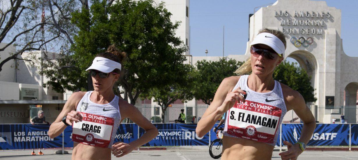 Shalane Flanagan '05 during the U.S. Olympic marathon trials on Feb. 13, 2016