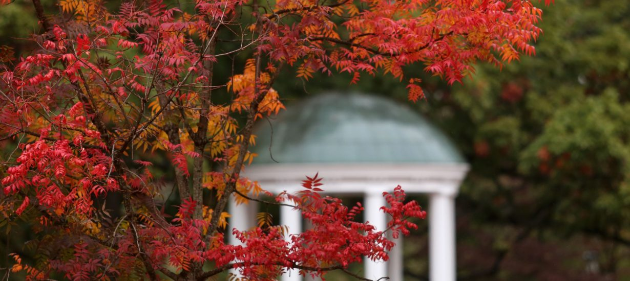 The Old Well in the fall. (UNC photo)
