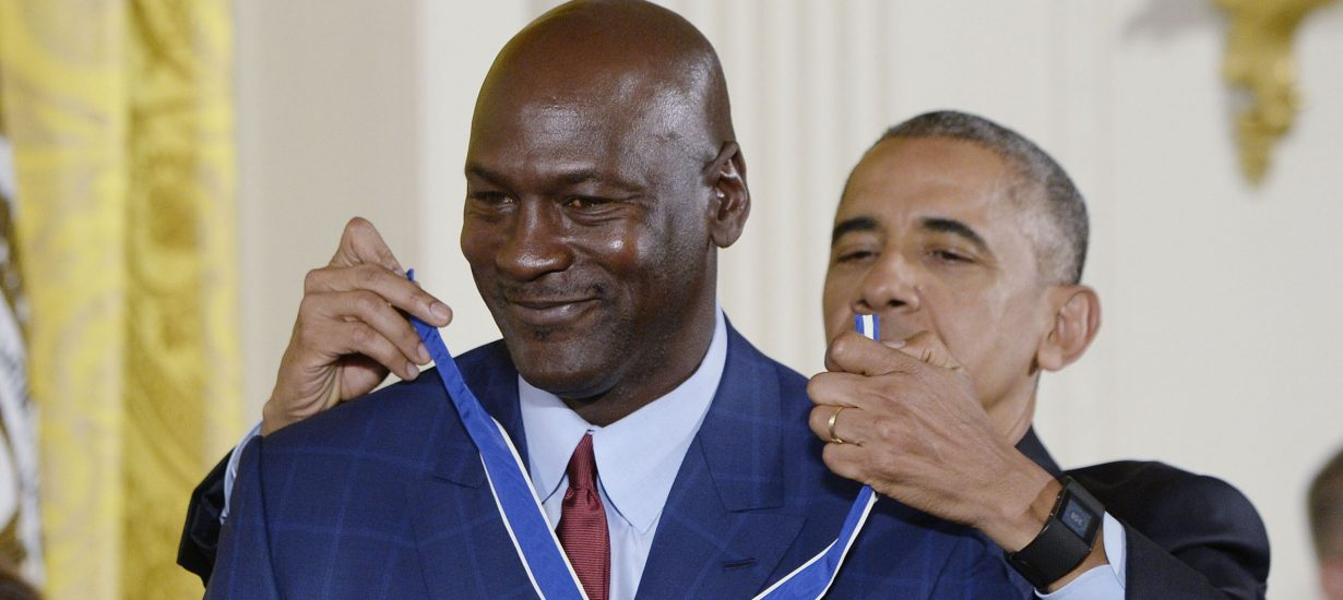 Obama Gives Michael Jordan Presidential Medal of Freedom - UNC ... efb48f862