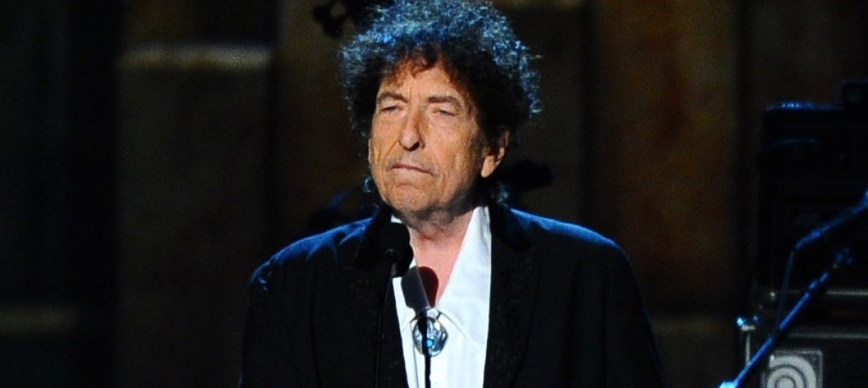 Bob Dylan accepts the MusiCares Person of the Year award in 2015. (Photo by Vince Bucci/Invision/AP)