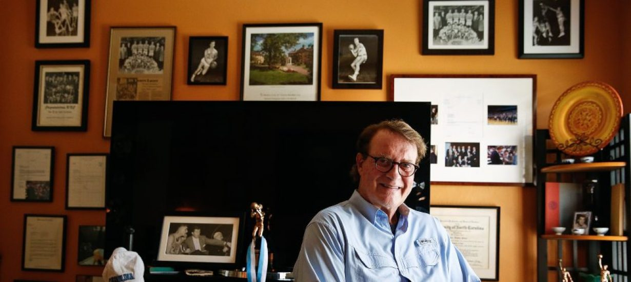 Bob Young '57, who made plays on Carolina's first national championship team in men's basketball, today believes in the power of poetry. (Photo courtesy of the Naples Daily News)
