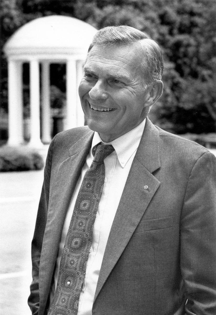 Chancellor Paul Hardin in 1989.