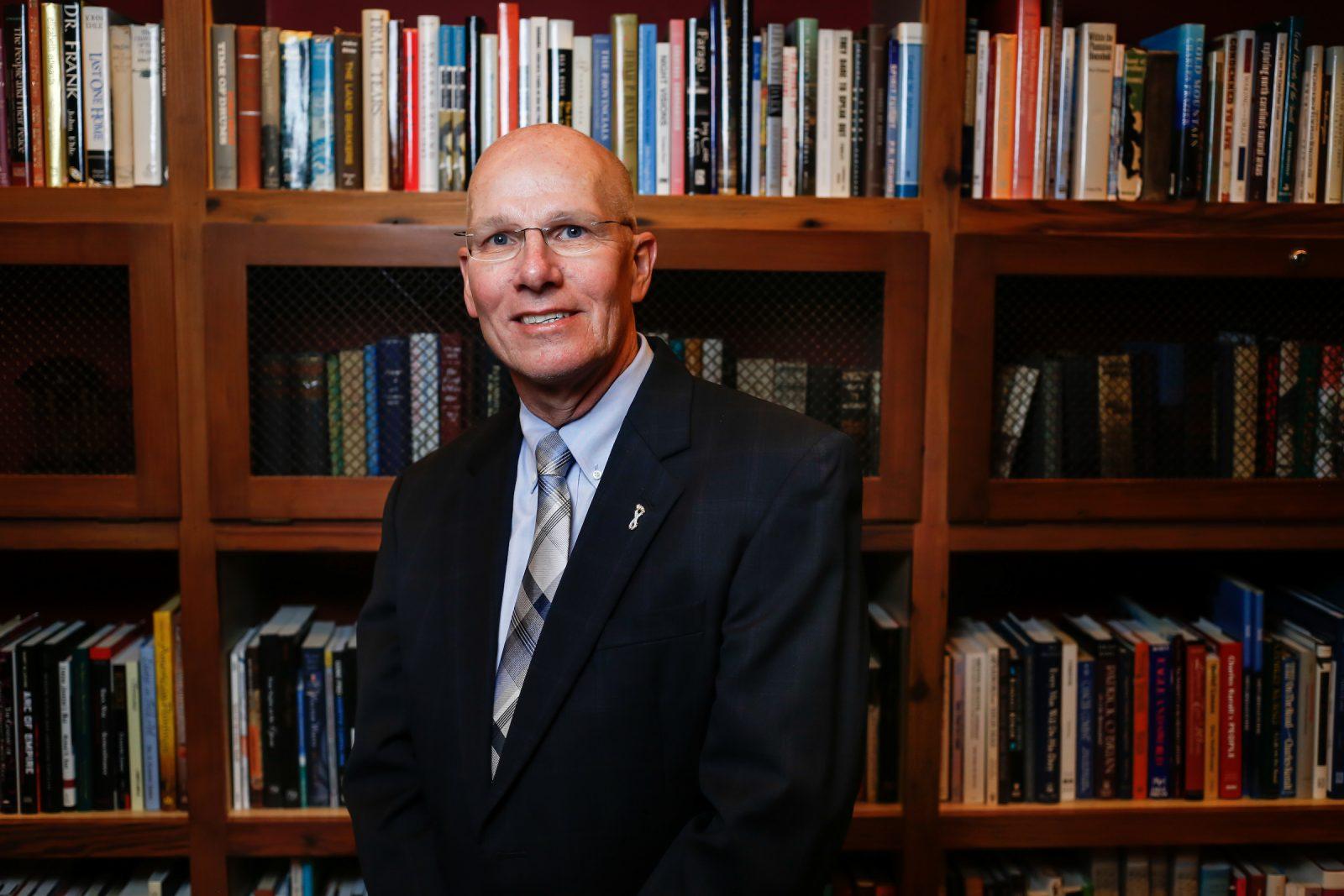 Pharmacy Dean Bob Blouin received the GAA's Faculty Service Award in January 2016. (Photo by Ray Black III)
