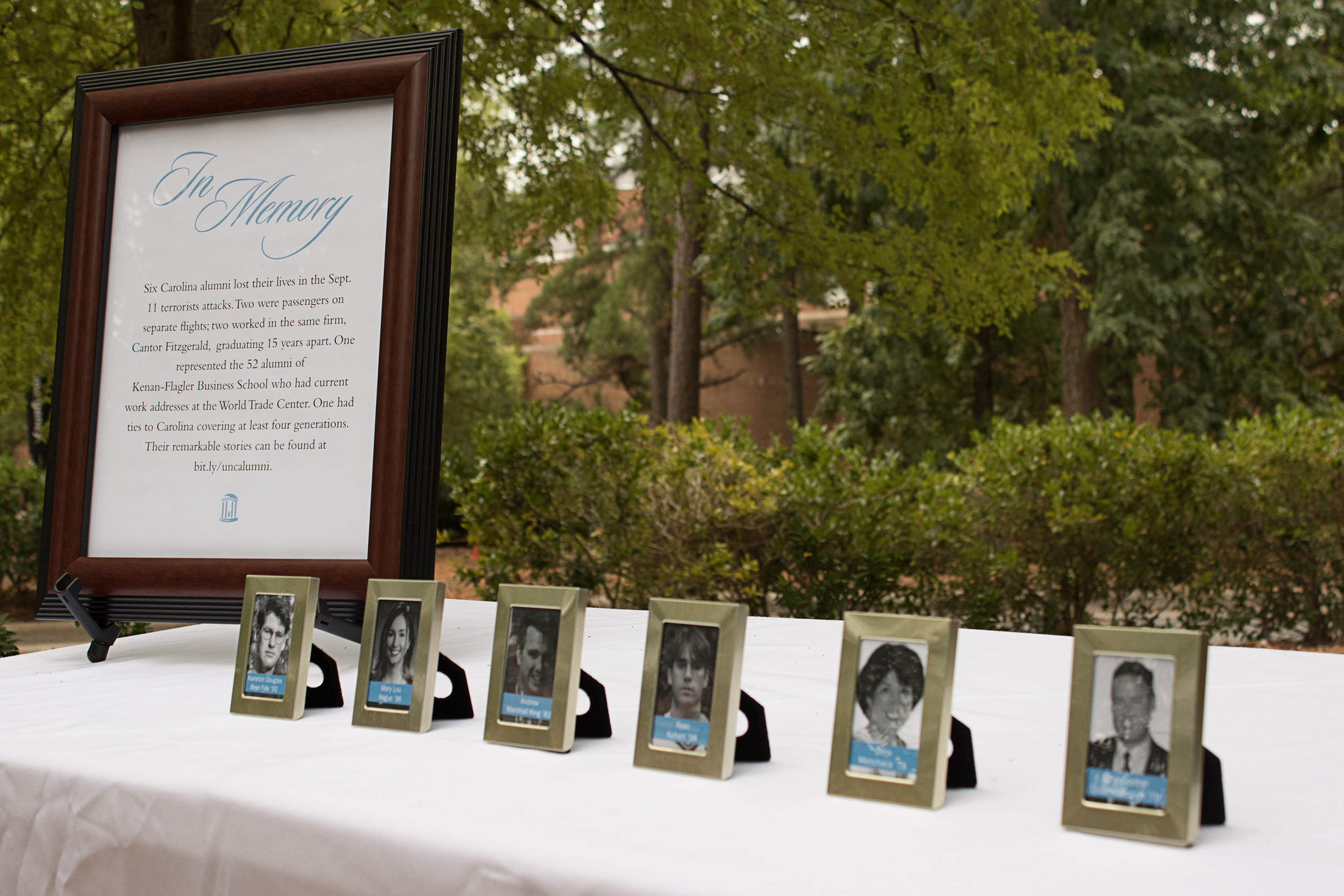 UNC alumni who died in the terrorist attacks on Sept. 11, 2001