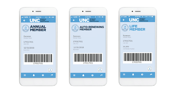 Membership cards via the Alumni App