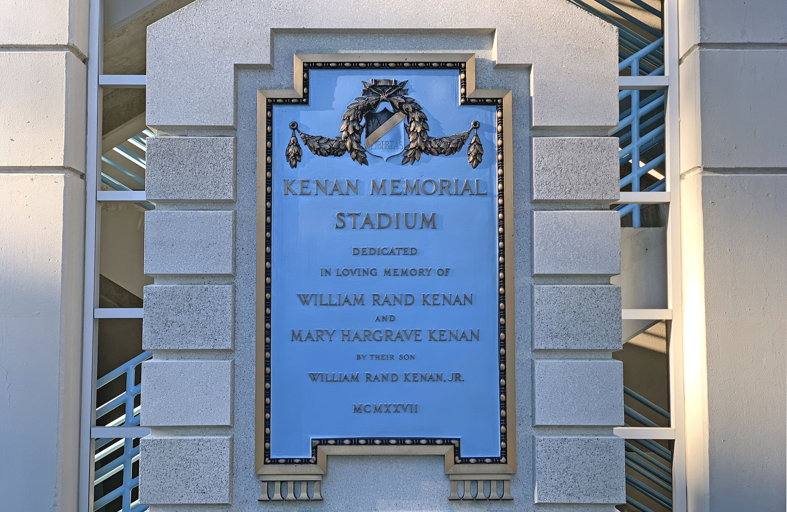Kenan Stadium plaque