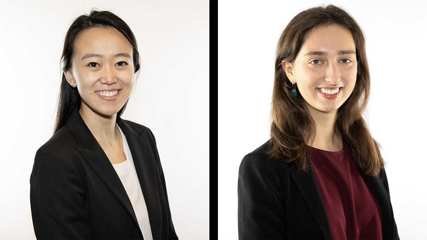 Alice Huang '16 and Emily Venturi '18