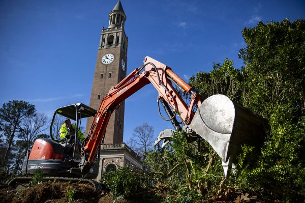Breathing Room: The Bell Tower's Hedges Are Gone